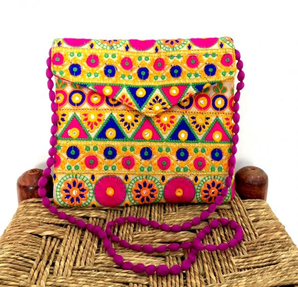 Traditional Embroidered Clutch Sling