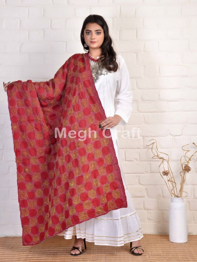 Megh Craft kantha stich stoles