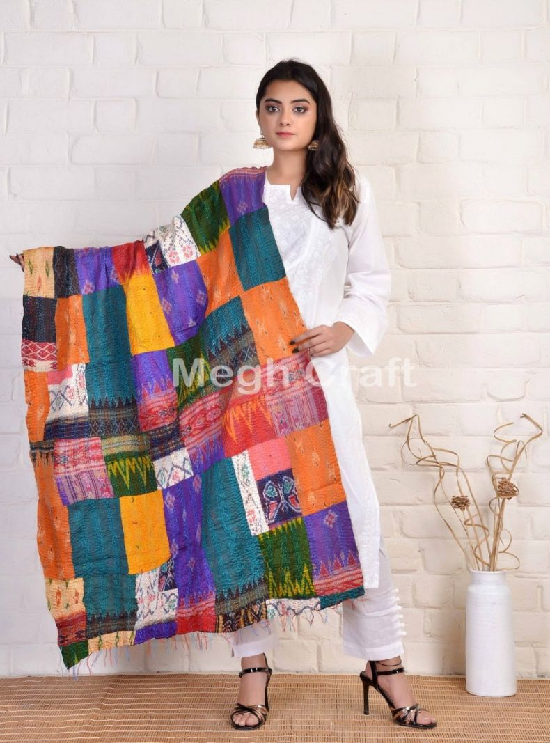 Megh Craft kantha Patches stoles