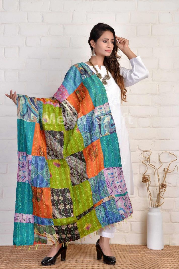 Boho Gypsy Fashion Kantha Dupatta