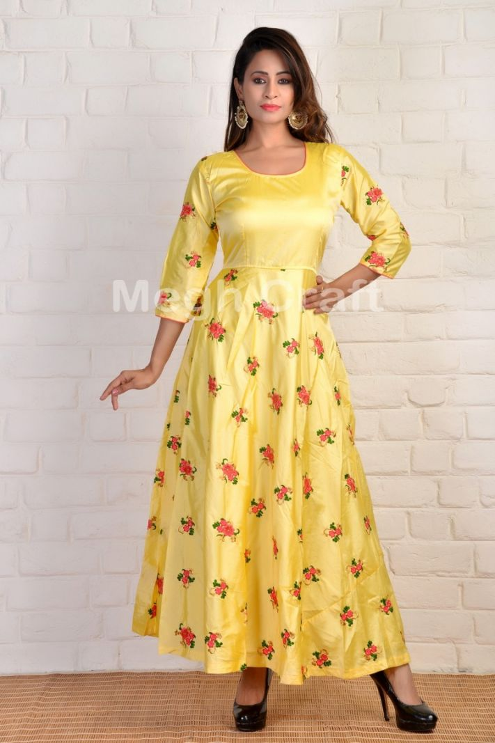 Designer Yellow maxi gown