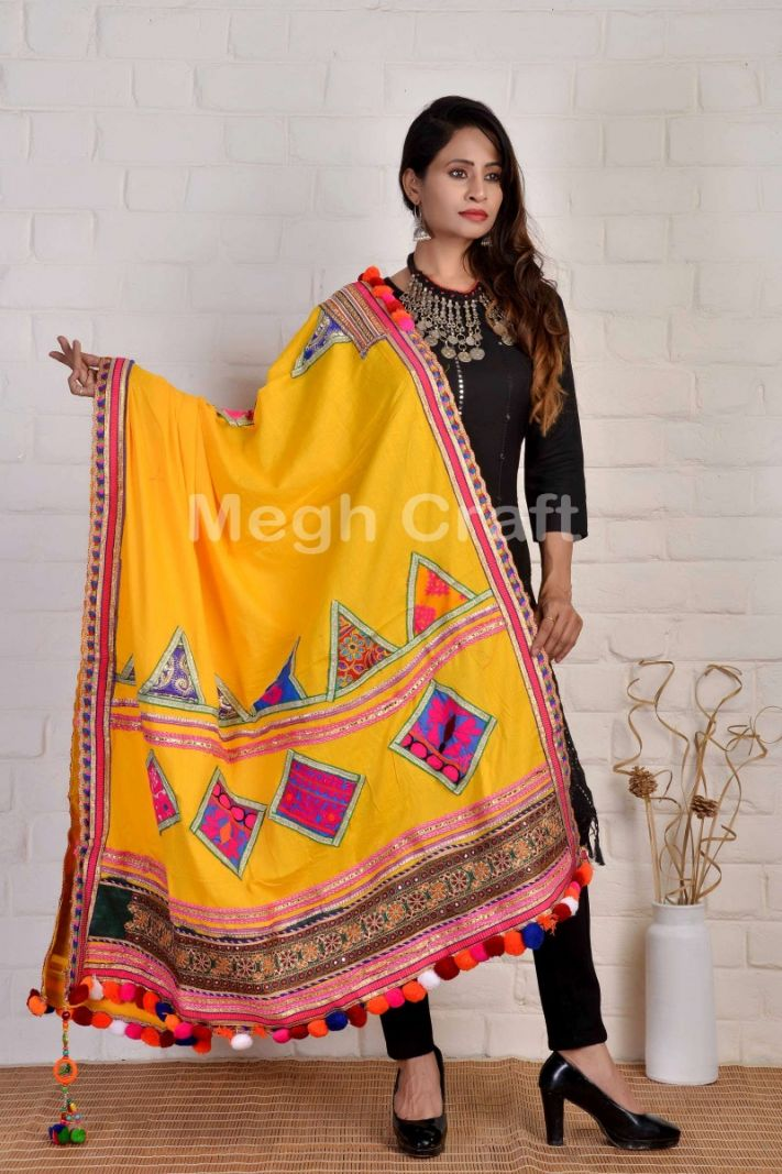 Boho Fashion Pompom Dupatta