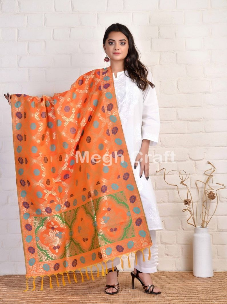 Indian Banarasi Silk Dupatta