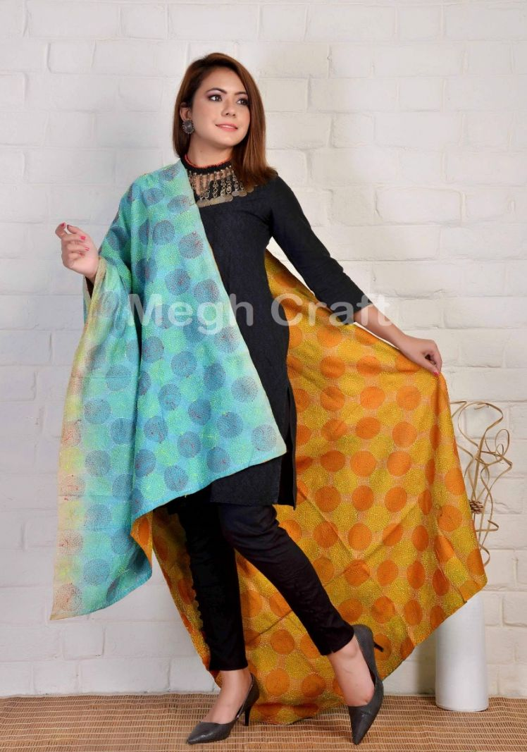 Exclusive Kantha Handcrafted Dupatta