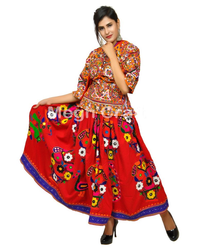 2020 Gujarati Mirror work Skirt
