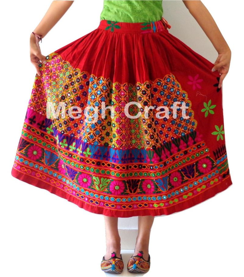 USA Fashion embroidery skirt