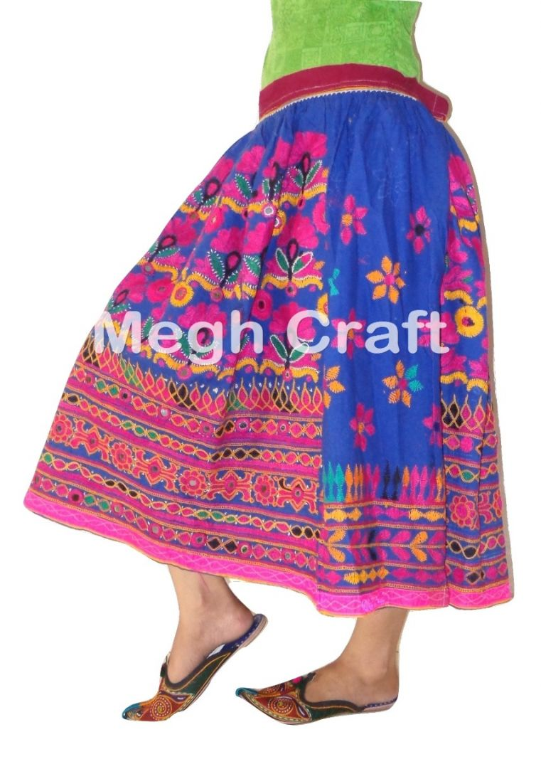 2020 Kutch Mirror work skirt