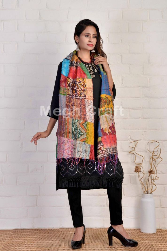 Kantha Hand Embroidered Stole