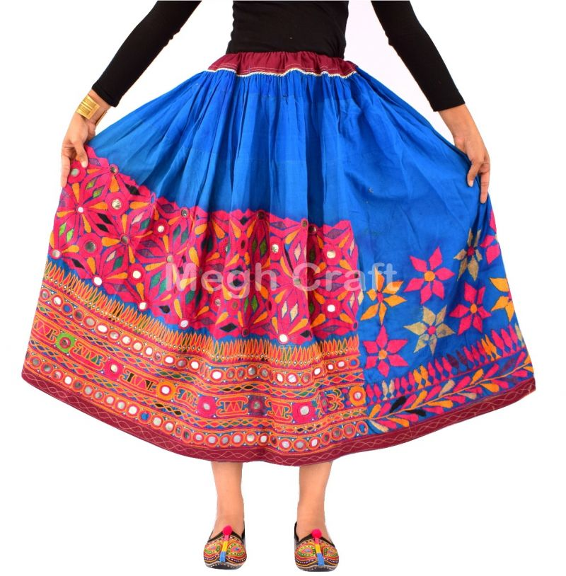 ladies bohemian embroidery skirt