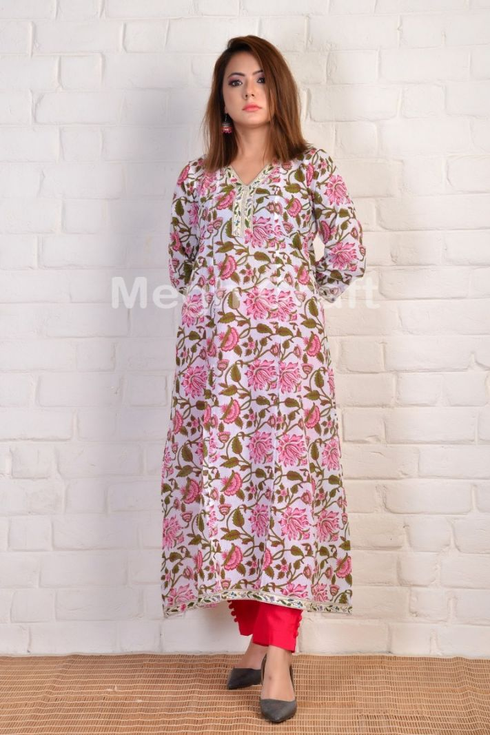 Exclusive soft cotton long kurti tunic