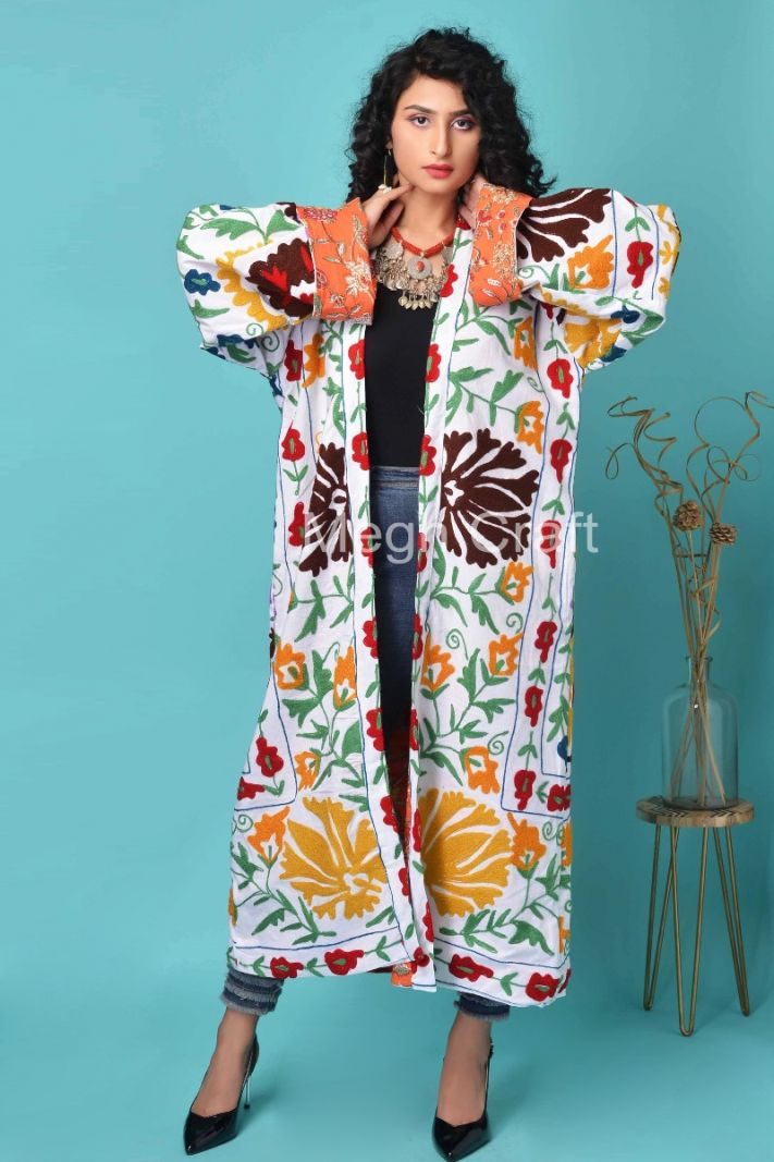 Boho Fashion Suzani Robe Coat