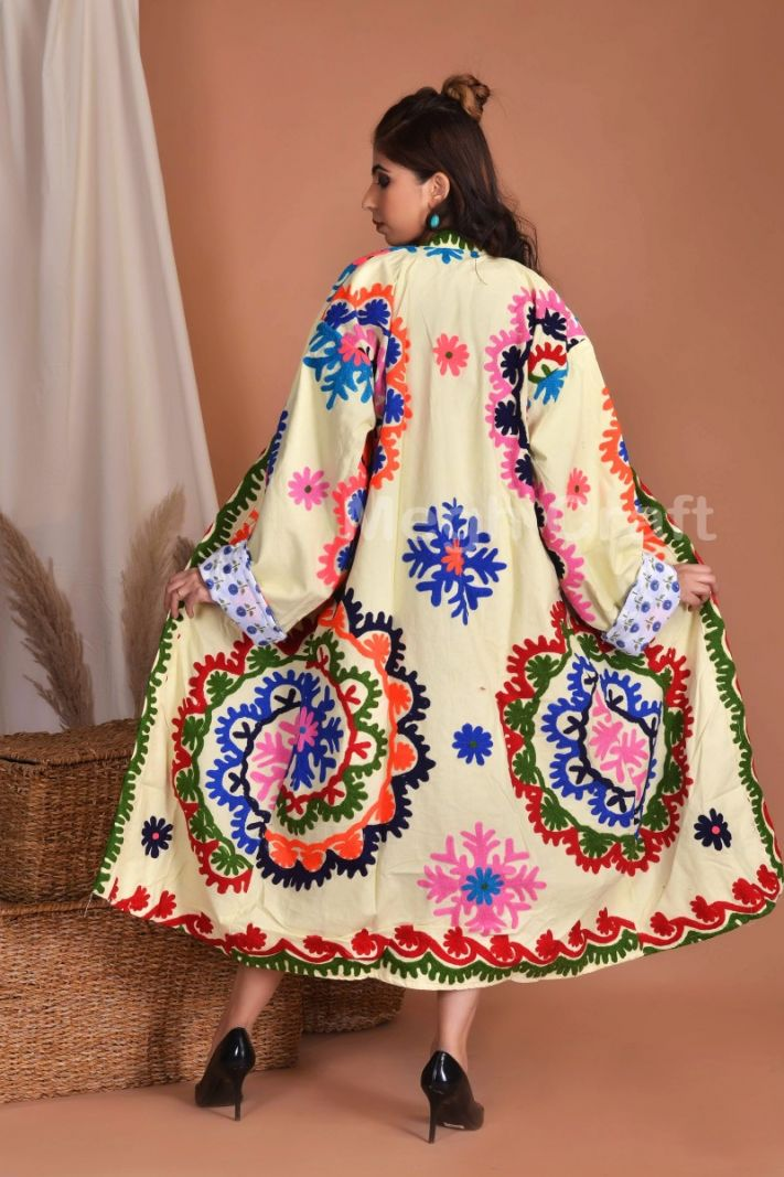 Suzani Embroidery Long Coat