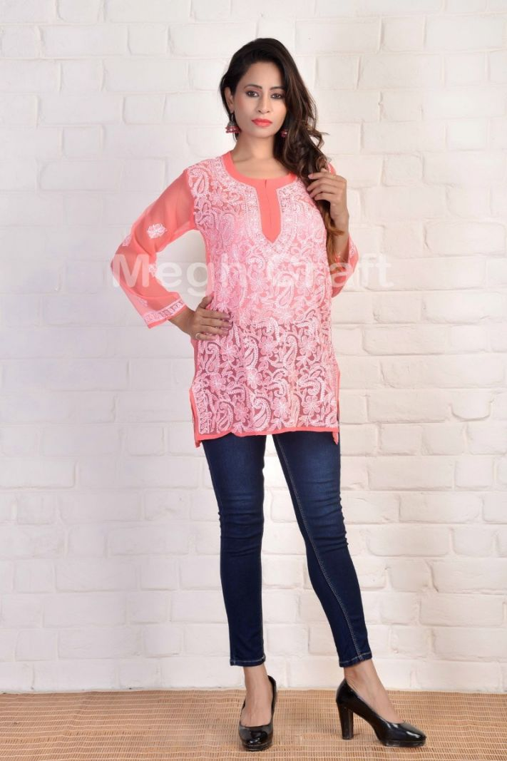 Exclusive Embroidery short kurti