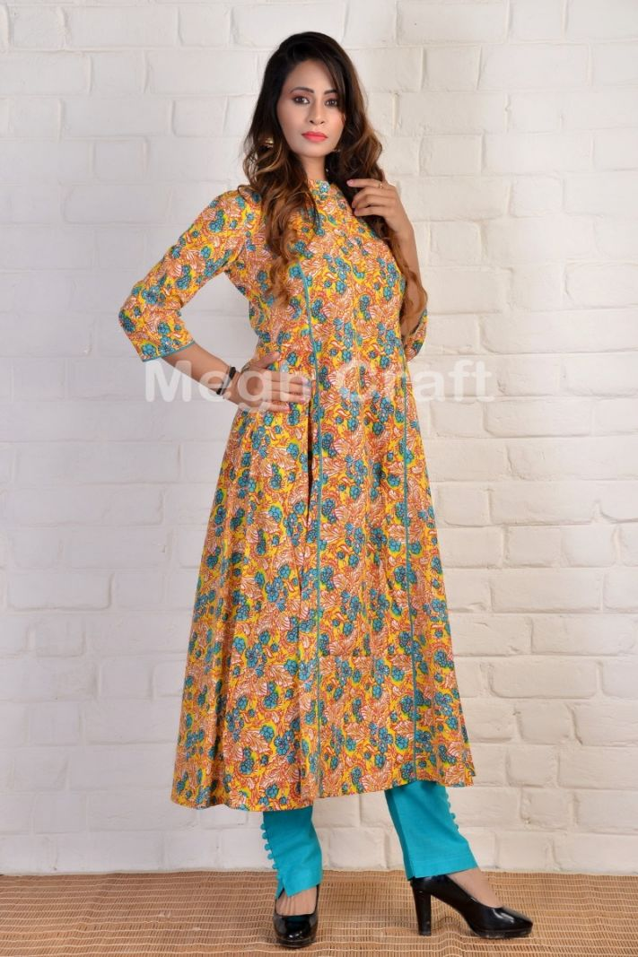 Indian Fashion cotton long kurti