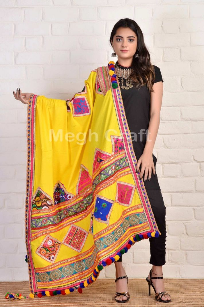 Gujarati Traditional Pompom Dupatta