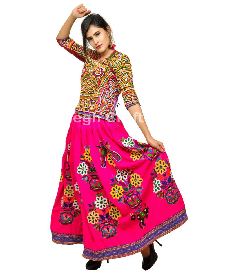 Pink Traditional Fashion Kutch Skirt