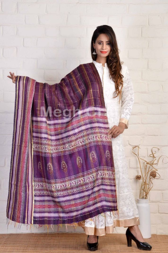 Indian Reversible Kantha Dupatta
