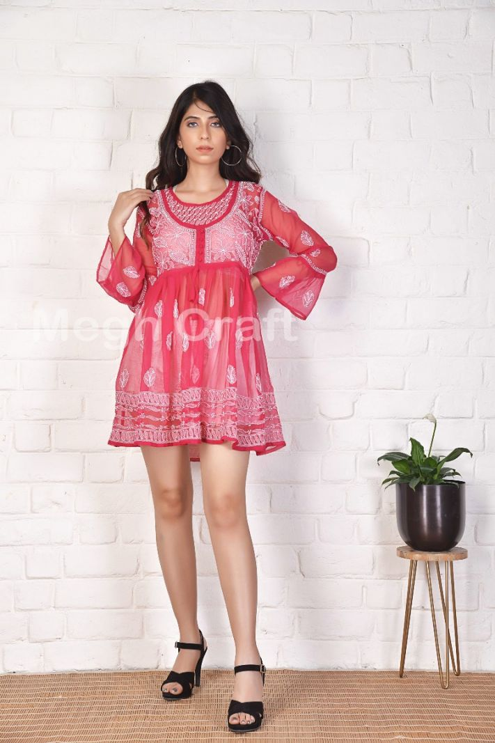 Chikan Embroidery Beach Wear Top