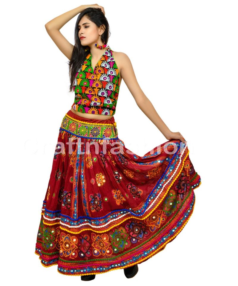 Indian Boho Fashion Embroidary Skirt (ONLY SKIRT)