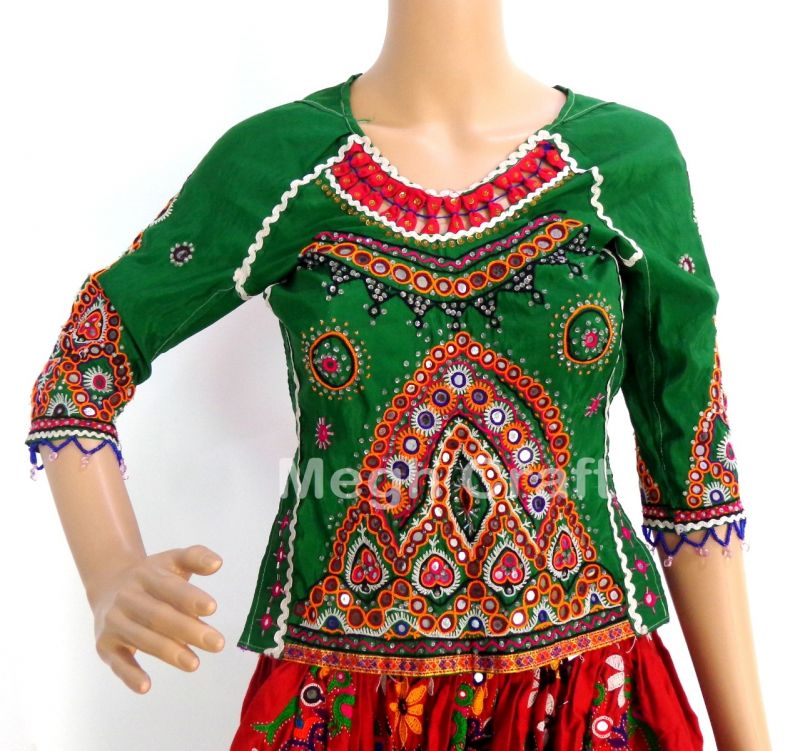 Mirror Work Backless Blouse