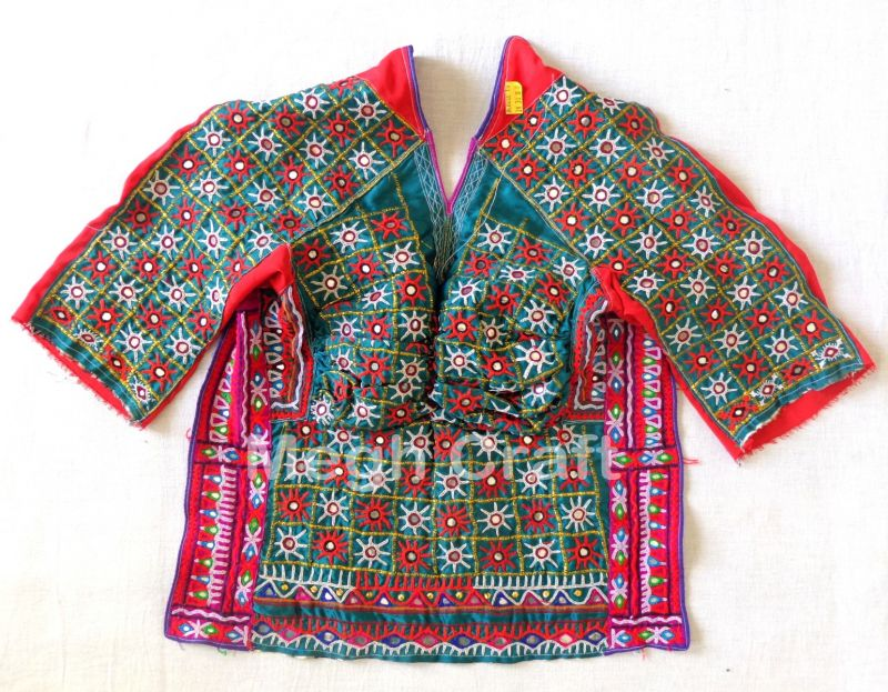 Dark Green Embroidery Blouse Top