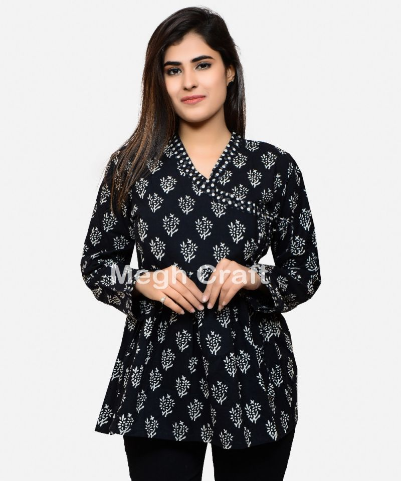 Block Printed Angrakha Top Tunic