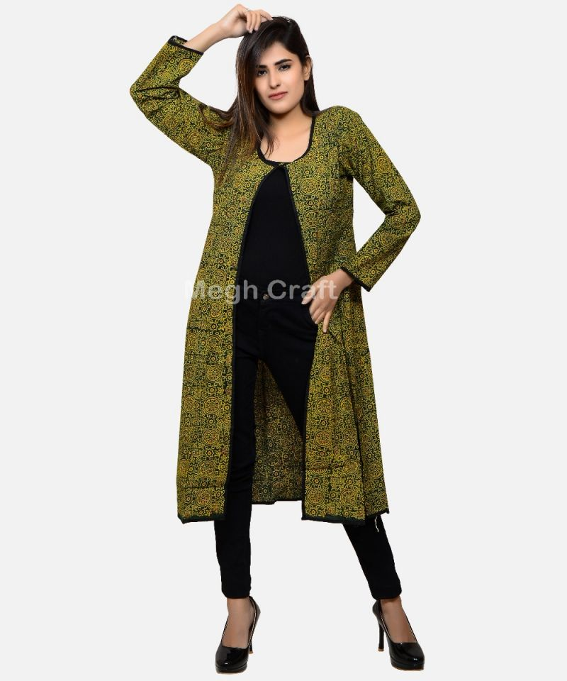Summer Fashion Ajrakh Overcoat
