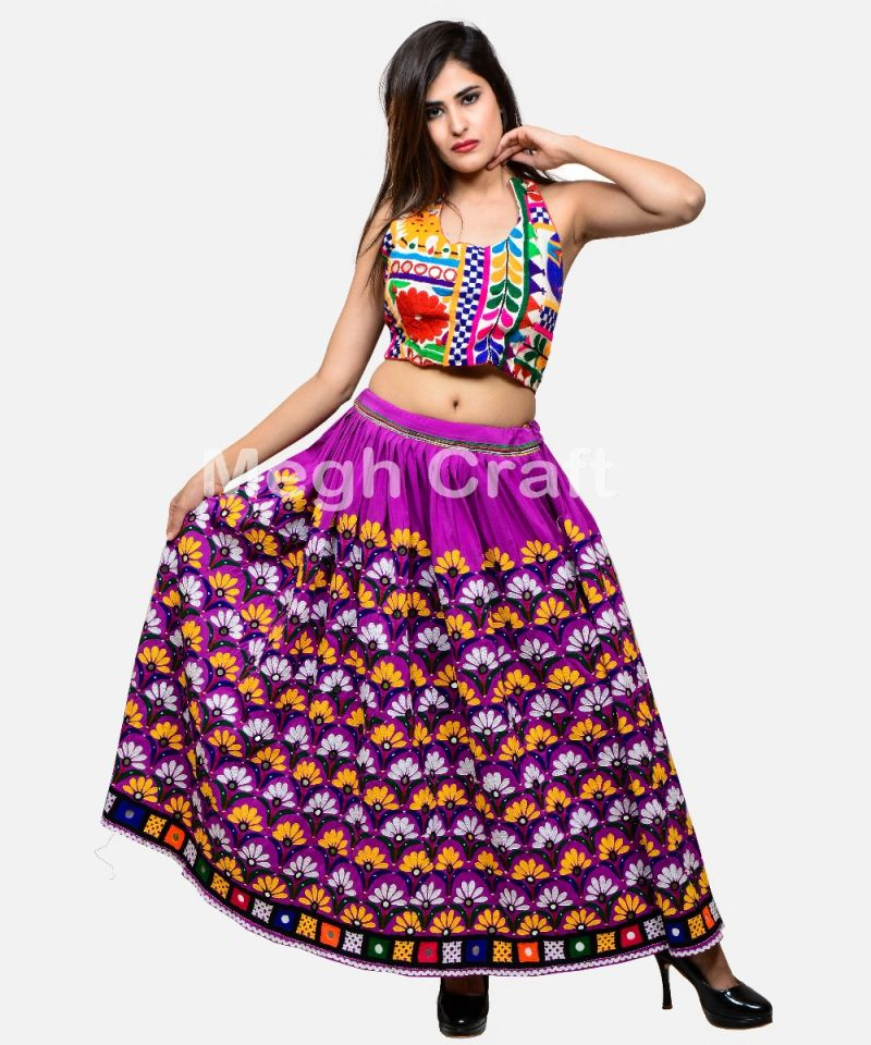 Purple Boho Fashion Kutch Skirt
