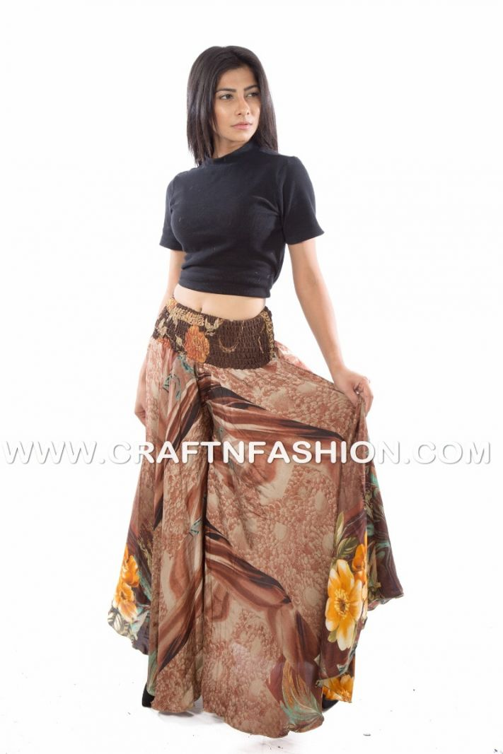 Brown Party Wear Trouser Pant