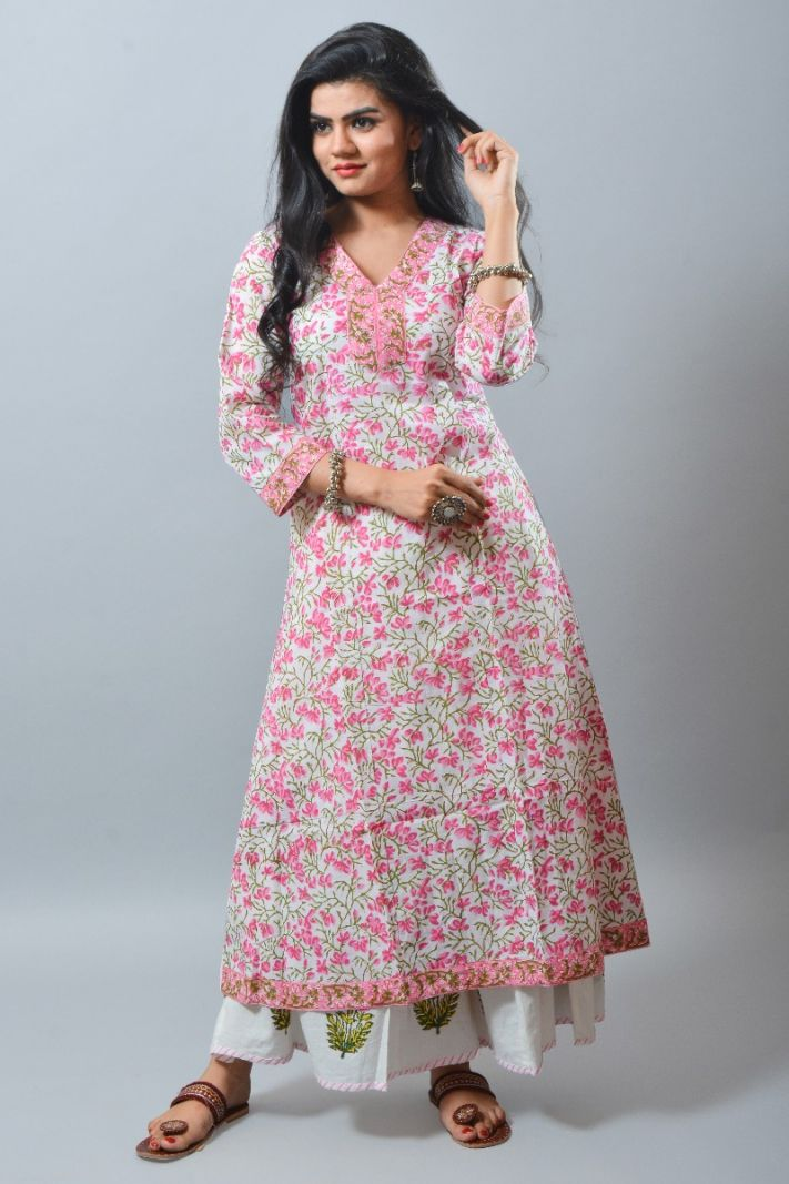 Paisley Cotton Long Kurti