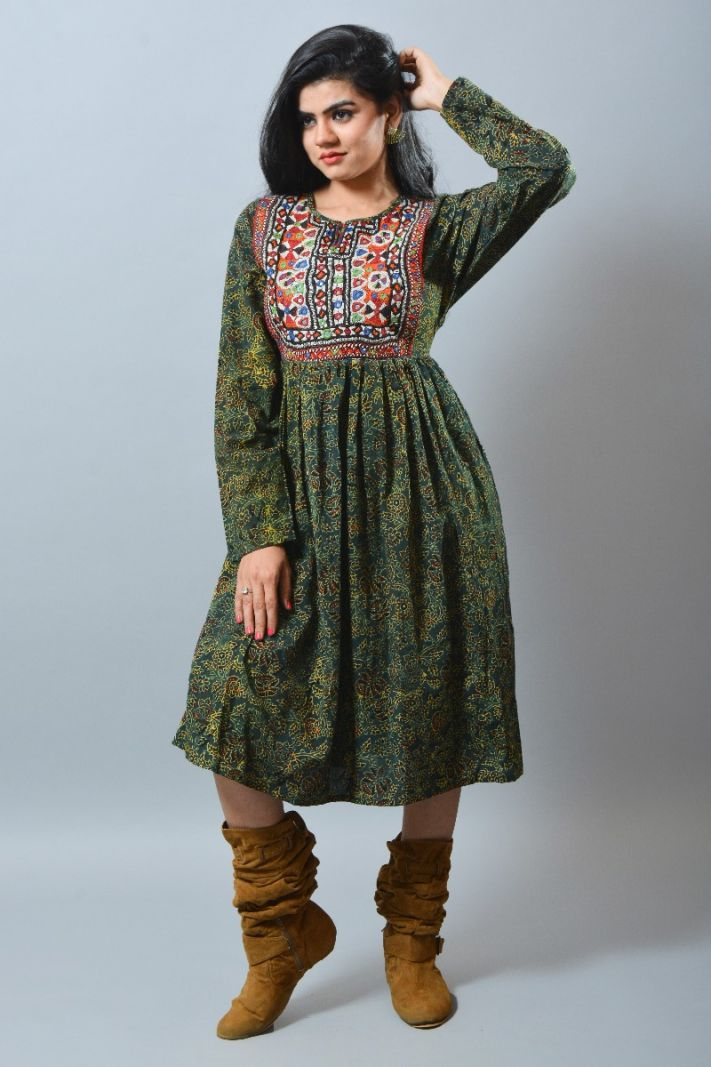 Boho Kutch Embroidery Patch Kurti