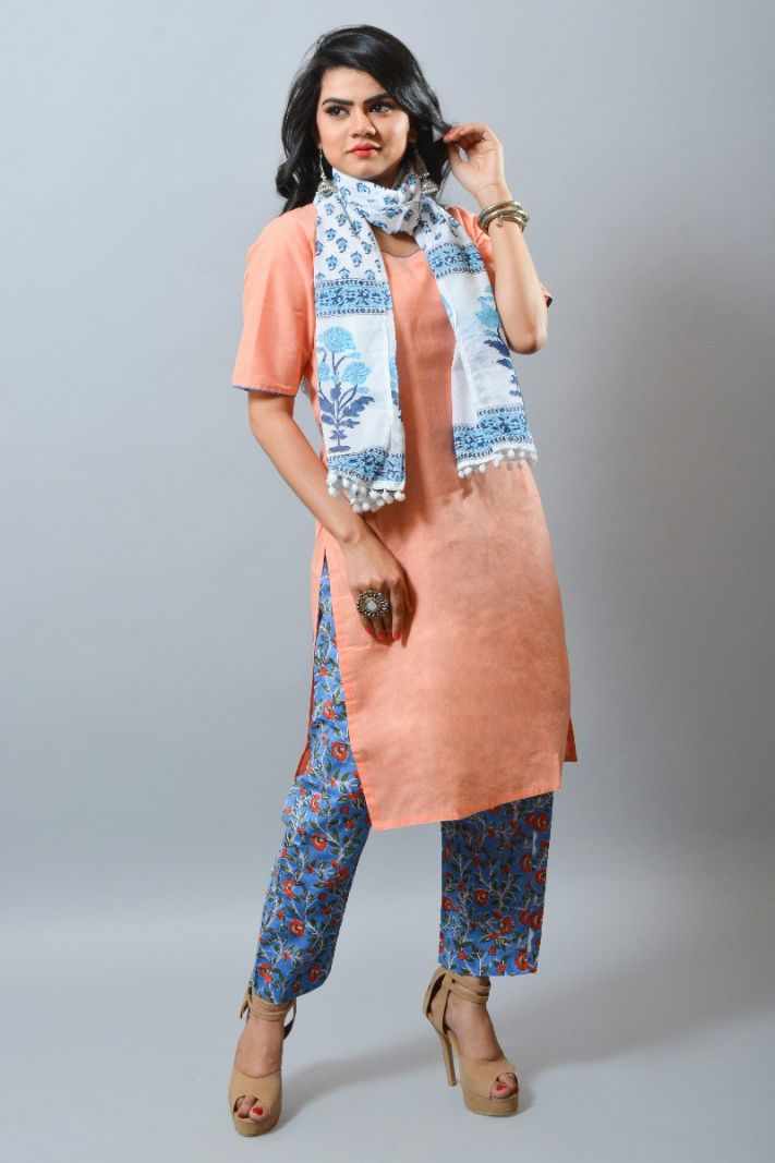 Khadi formal summer fashion kurti