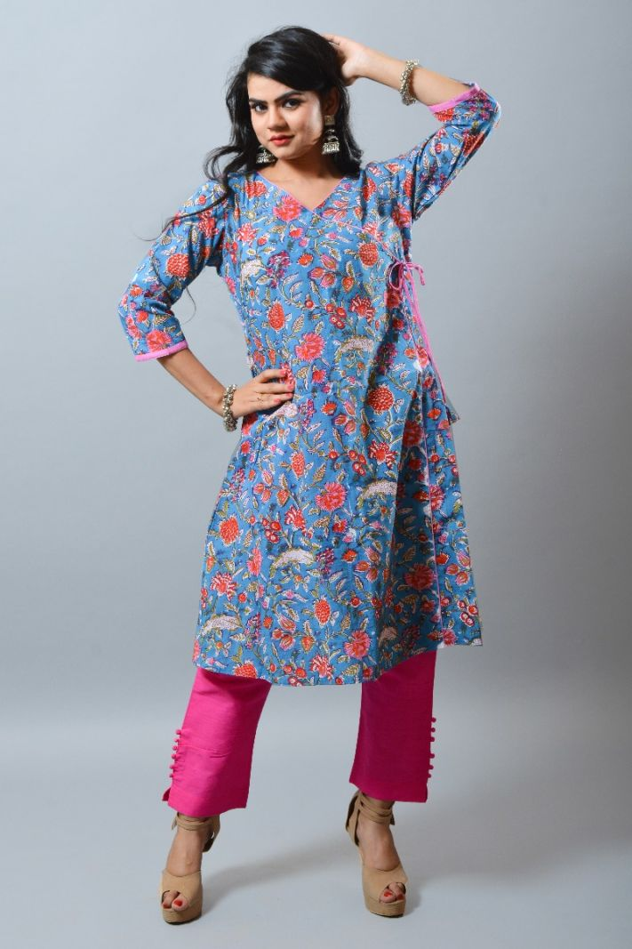 Khadi Cotton Long Kurti Gown