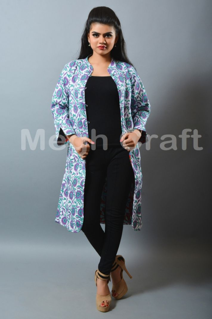 Fashion Quilted Reversible Long Coat