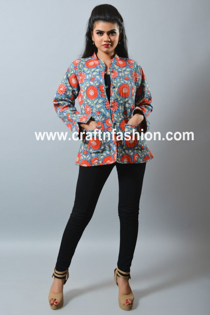 Floral Winter Quilted Jacket