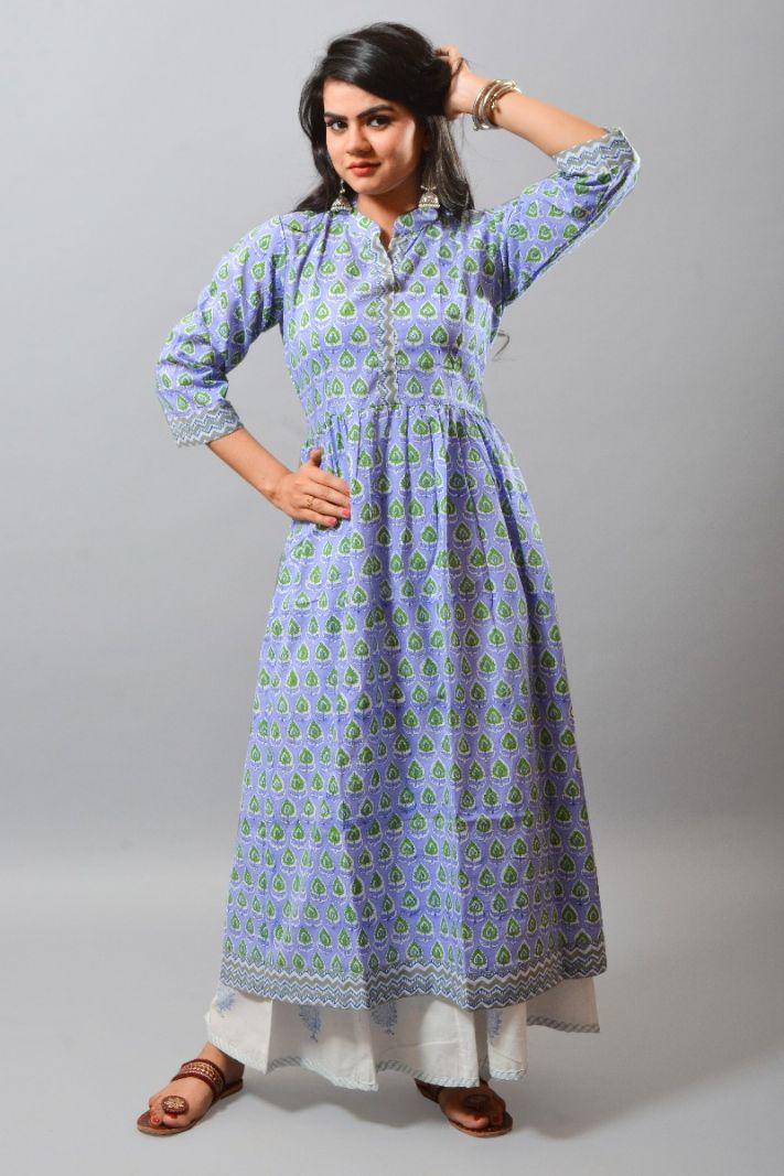 Paisley Cotton Long Kurti Tunic