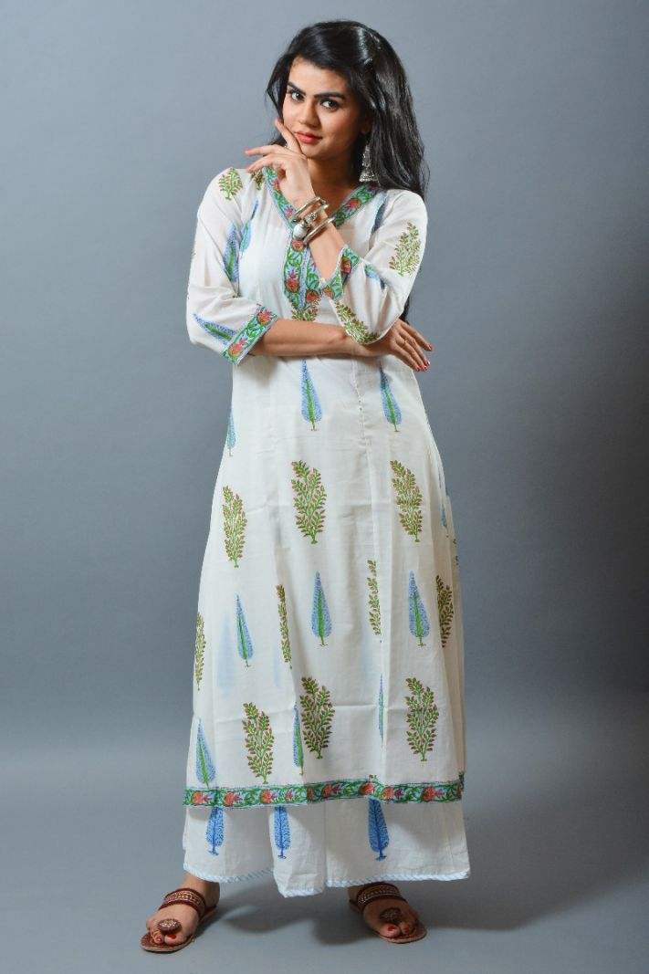 Boho Paisley Cotton Long Kurti