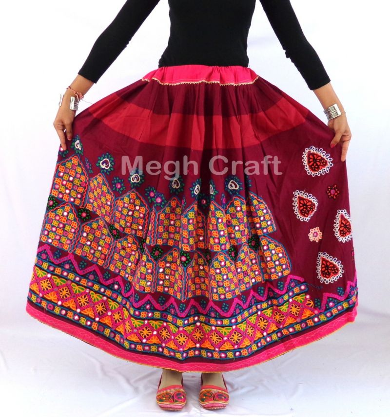 Indian Kutch Mirror work skirt