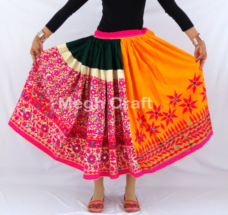 bohemian Embroidery Kutch Skirt