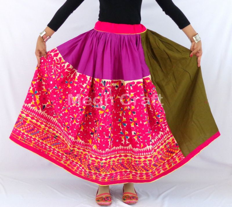 Gujarati Hand Embroidery Skirt