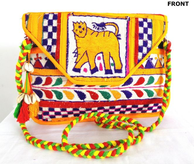 Kutch Embroidery Clutch Bag