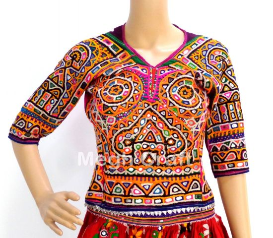 Traditional Mirror Work Blouse