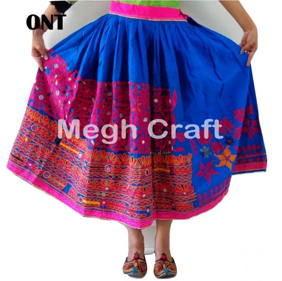 Girl's boho embroidery skirt