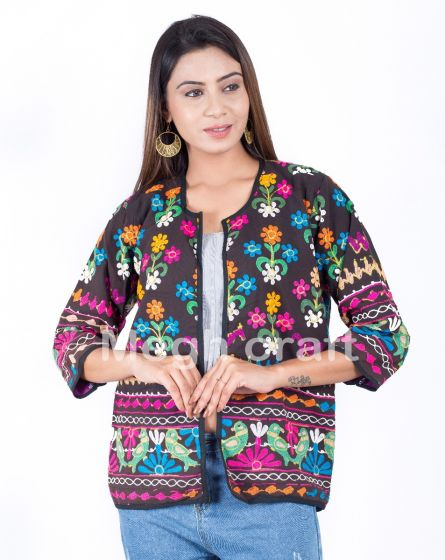 Floral Embroidery Fashion Jacket