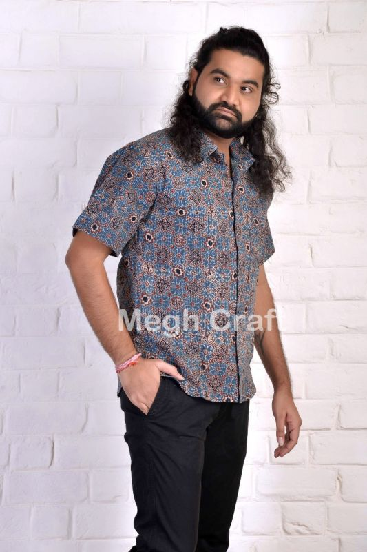Formal Ajrakh Men's Shirt