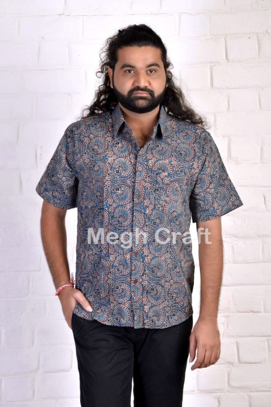 Gujarat Ajrakh Cotton Men's Shirt