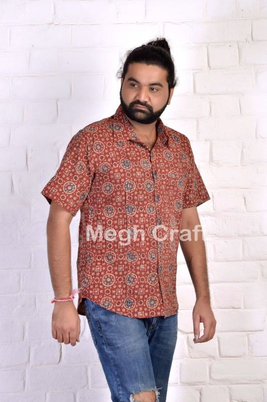 Fusion Wear Ajrakh Men's Shirt