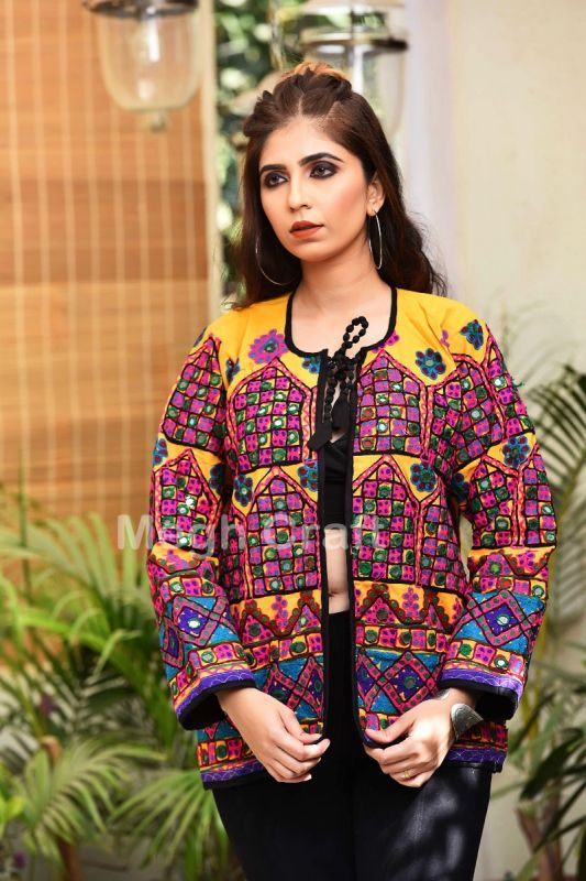 Gujarati Mirror Work Jacket