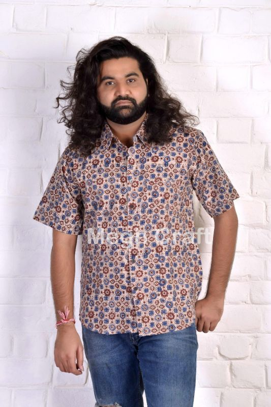 Ajrakh Printed Cotton Men's Shirt