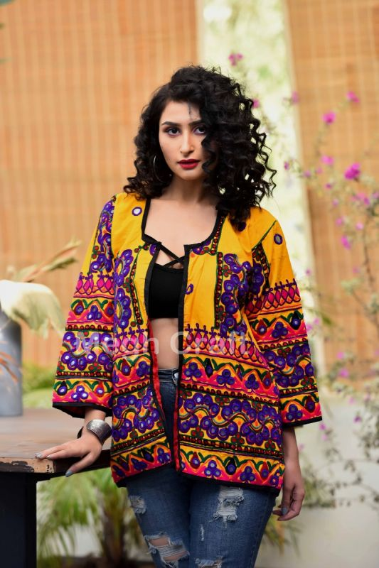 Mirror Work Gypsy Jacket Coat